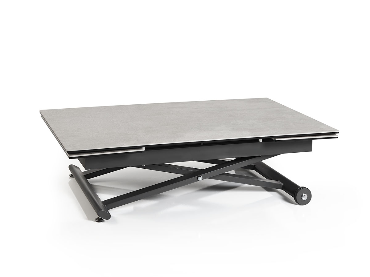 Table basse relevable avec 2 allonges
