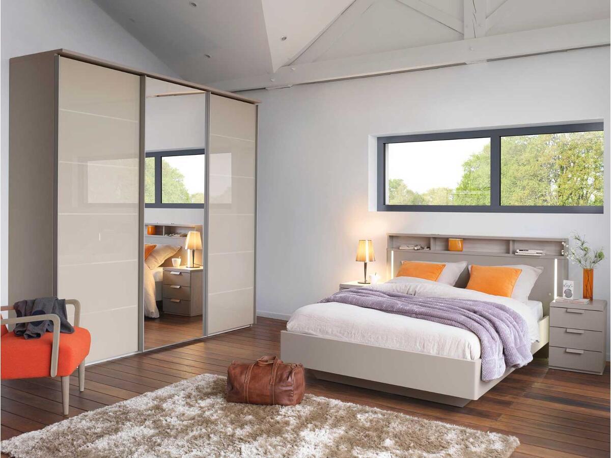 Porte En Tete De Lit lit tête de lit niche bicolore à saint renan