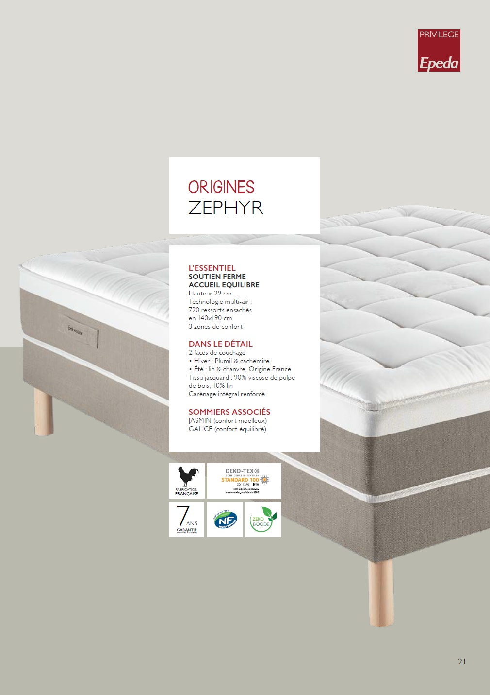 Matelas Zephyr collection Origines
